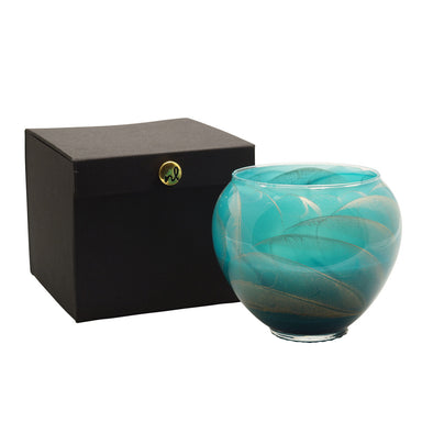 "Northern Lights Candles / 6"" Vase - Turquoise"