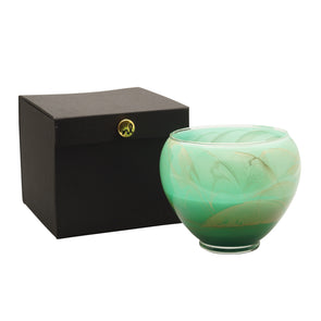 "Northern Lights Candles / 6"" Vase - Sea Foam"