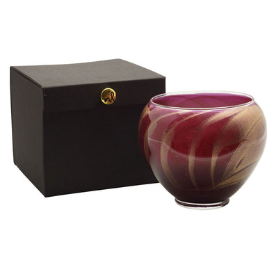 "Northern Lights Candles / 6"" Vase - Merlot"
