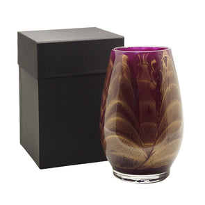 "Northern Lights Candles / 9"" Filled Vase - Amethyst"