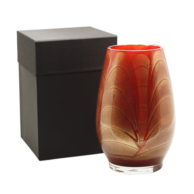 "Northern Lights Candles / 9"" Filled Vase - Cranberry"