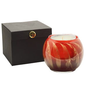 "Northern Lights Candles / 4"" Globe - Cranberry"