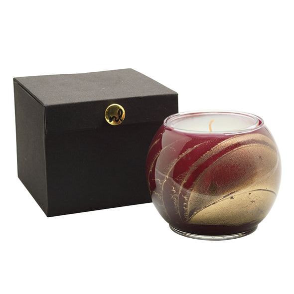 "Northern Lights Candles / 4"" Globe - Merlot"