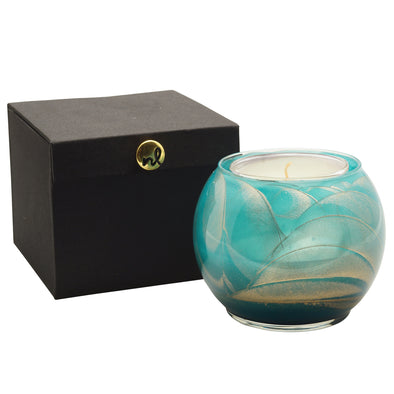 "Northern Lights Candles / 4"" Globe - Turquoise"