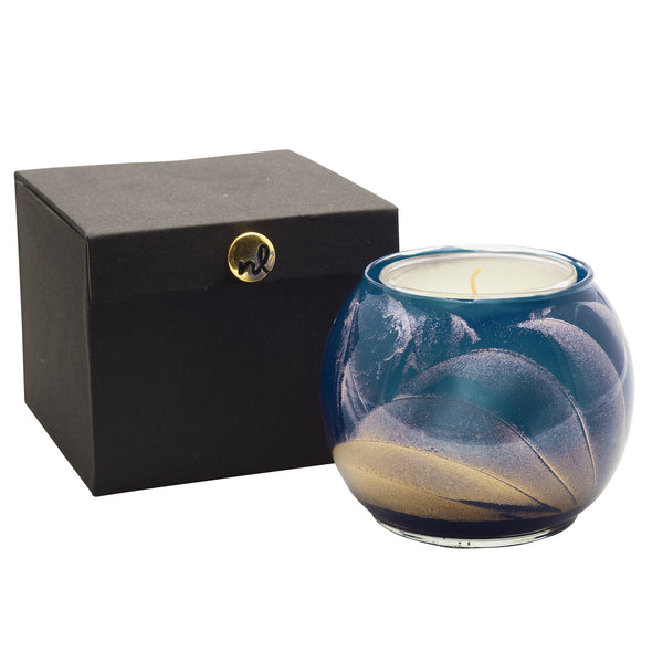 "Northern Lights Candles / 4"" Globe - Midnight"