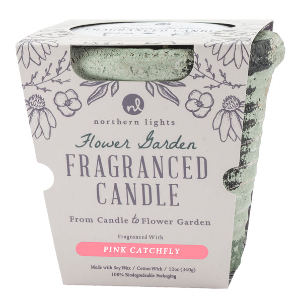Northern Lights Candles / Flower Garden - Pink Catchfly