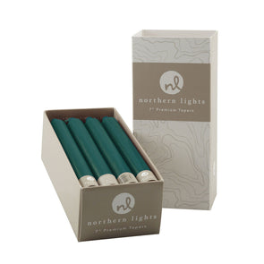 "Northern Lights Candles / 7"" Tapers 12pk - Turquoise"