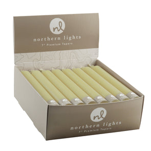 "Northern Lights Candles / 7"" Tapers 24pk - Wheat"