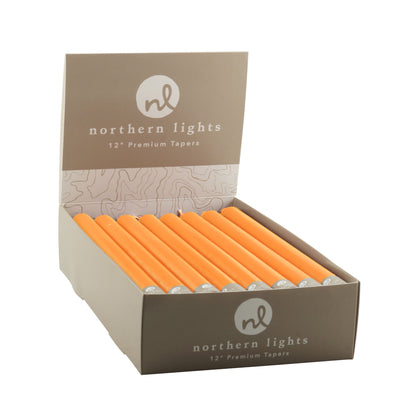"Northern Lights Candles / 12"" Tapers 24pk - Orange Zest"
