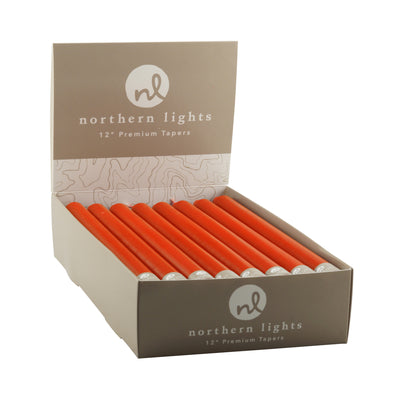 "Northern Lights Candles / 12"" Tapers 24pk - Pumpkin"