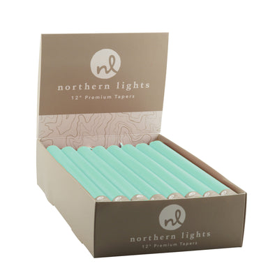 "Northern Lights Candles / 12"" Tapers 24pk - Aqua"