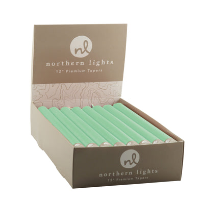 "Northern Lights Candles / 12"" Tapers 24pk - Willow"
