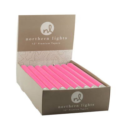 "Northern Lights Candles / 12"" Tapers 24pk - Fuchsia"