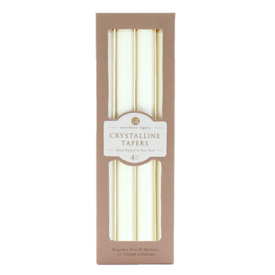 Crystalline Tapers - Crystal Pearl - Northern Lights Candles