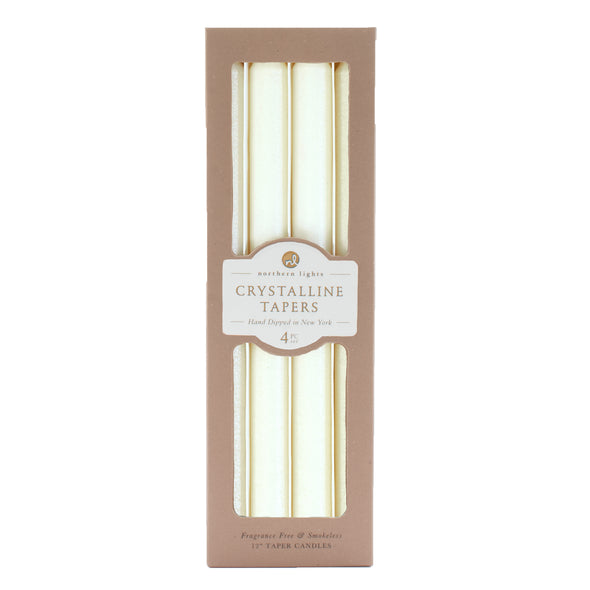 Northern Lights Candles / Crystalline Tapers - Crystal Pearl