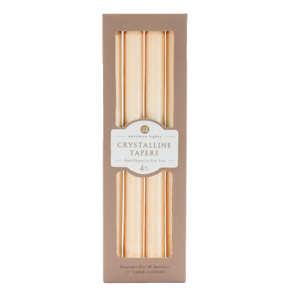 Northern Lights Candles / Crystalline Tapers - Crystal Melon