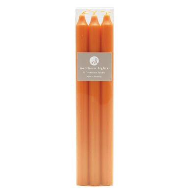 "Northern Lights Candles / 12"" Tapers 6pk - Goldfish"