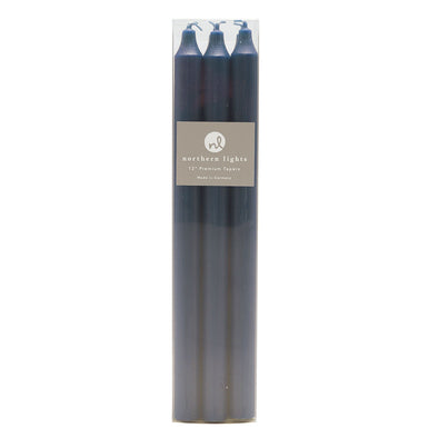 "Northern Lights Candles / 12"" Tapers 6pk - Midnight Blue"