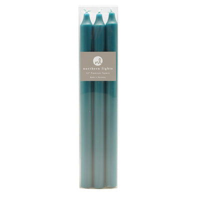 "Northern Lights Candles / 12"" Tapers 6pk - Turquoise"