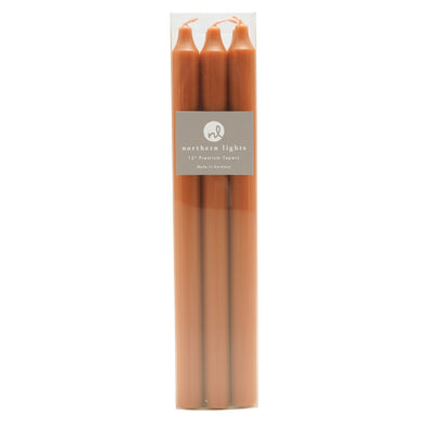 "Northern Lights Candles / 12"" Tapers 6pk - Terra Cotta"