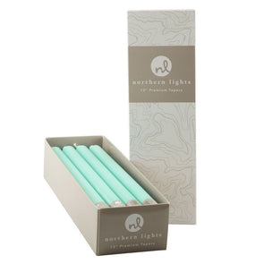 "Northern Lights Candles / 12"" Tapers 12pk - Aqua"