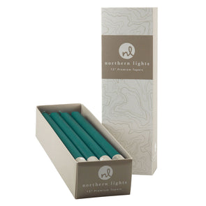 "Northern Lights Candles / 12"" Tapers 12pk - Turquoise"