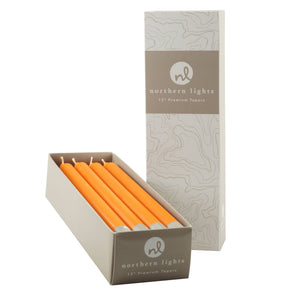 "Northern Lights Candles / 12"" Tapers 12pk - Orange Zest"