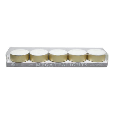 Mega Tealights - 5pc Box - Northern Lights Candles