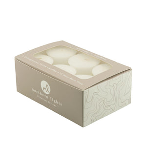 Unfragranced Votives - 6pk - Northern Lights Candles