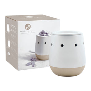 Electric Wax Melt Warmer - White Matte - Northern Lights Candles