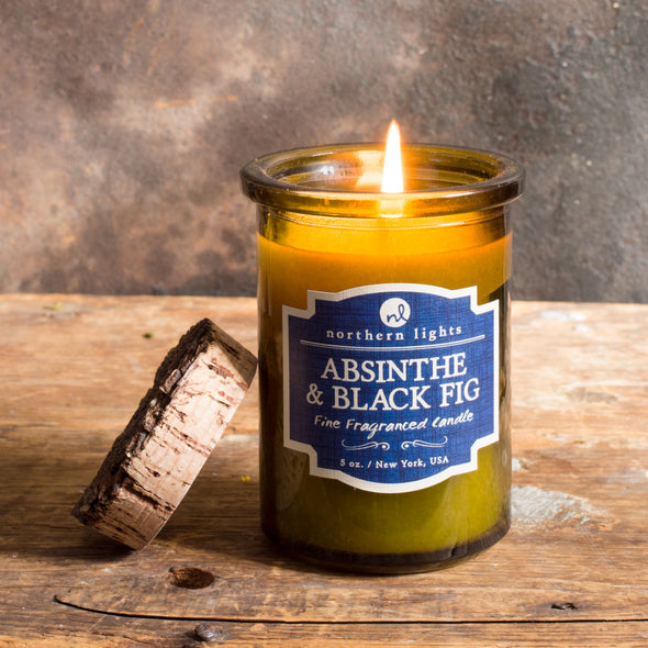 Northern Lights Candles / Spirit Jar - Absinthe & Black Fig