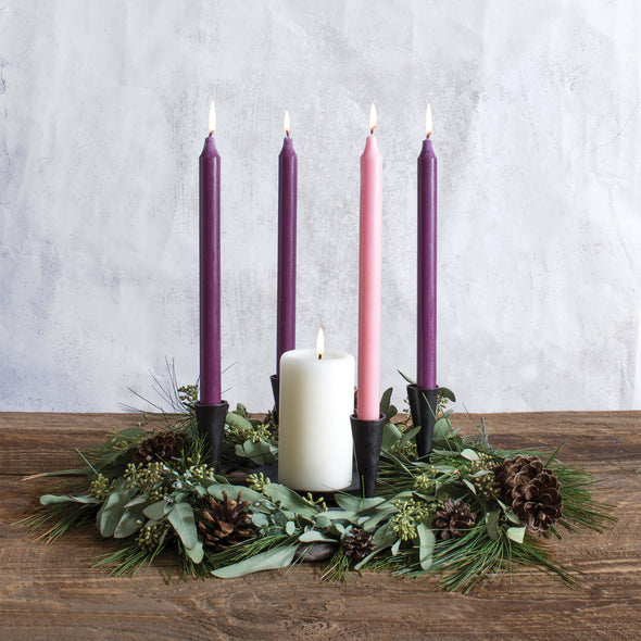 Advent Tapers - Northern Lights Candles