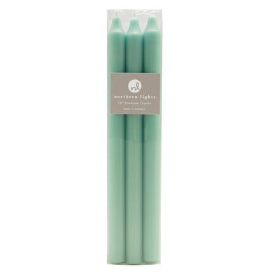 "Northern Lights Candles / 12"" Tapers 6pk - Aqua"