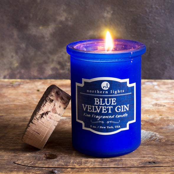 Spirit Jar - Blue Velvet Gin - Northern Lights Candles