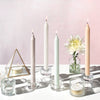 Northern Lights Candles / Cyrstalline Tapers - Crystal White