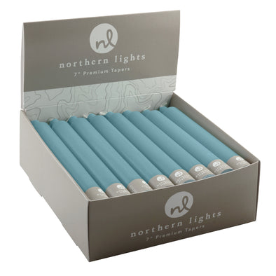 "7"" Tapers 24pk - Denim - Northern Lights Candles"