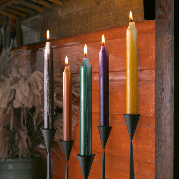 Northern Lights Candles / Embers 2pk Tapers - Terra Cotta