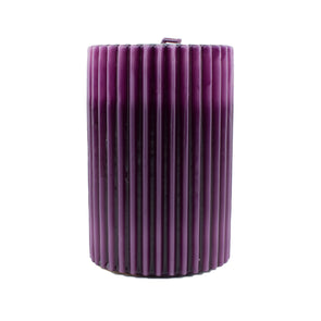 Northern Lights Candles / Embers Ribbed Pillar 4x6 - Amethyst