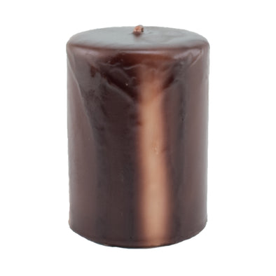 Northern Lights Candles / Embers Round Pillar 3x4 - Chocolate
