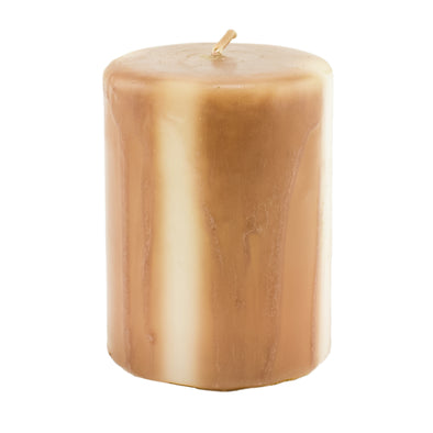 Northern Lights Candles / Embers Round Pillar 3x4 - Terra Cotta