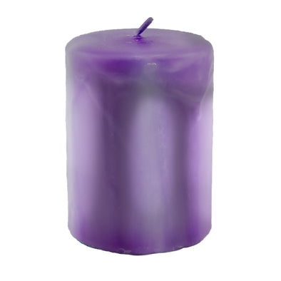 Northern Lights Candles / Embers Round Pillar 3x4 - Amethyst
