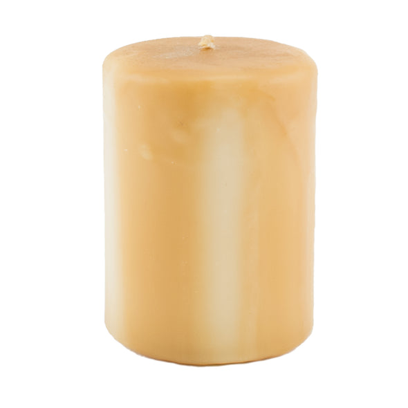 Northern Lights Candles / Embers Round Pillar 3x4 - Wheat