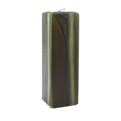 Northern Lights Candles / Embers Square Pillar 2.5x8 - Moss Green