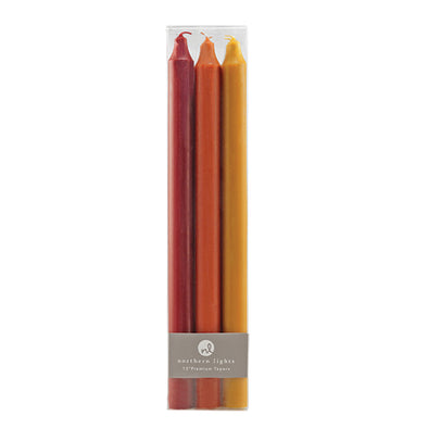 "Northern Lights Candles / 12"" Tapers 6pk - Autumn Harvest (Box)"