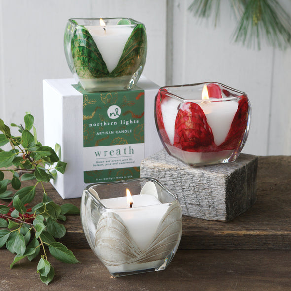 Northern Lights Candles / Holiday Cascade - Wreath