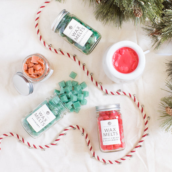 Northern Lights Candles / Mason Melts - Sweet Cream & Peppermint