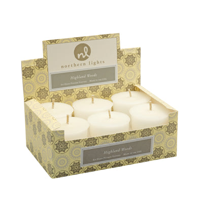 Northern Lights Candles / Jubilee Votives - Highland Woods