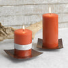 Kobe - Rustic Brown Plate - Northern Lights Candles