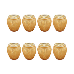 Northern Lights Candles / Lustre Votive Holder - Copper (8 Pack)