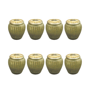 Northern Lights Candles / Lustre Votive Holder - Olive (8 Pack)